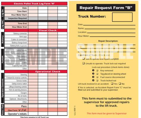 Forklift Inspection Logbook Kit